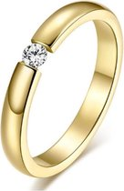 Cilla Jewels edelstaal ring Crystal Gold-15mm