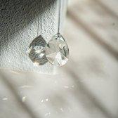 Regenboogkristal Facet Druppel Groot (63 mm)