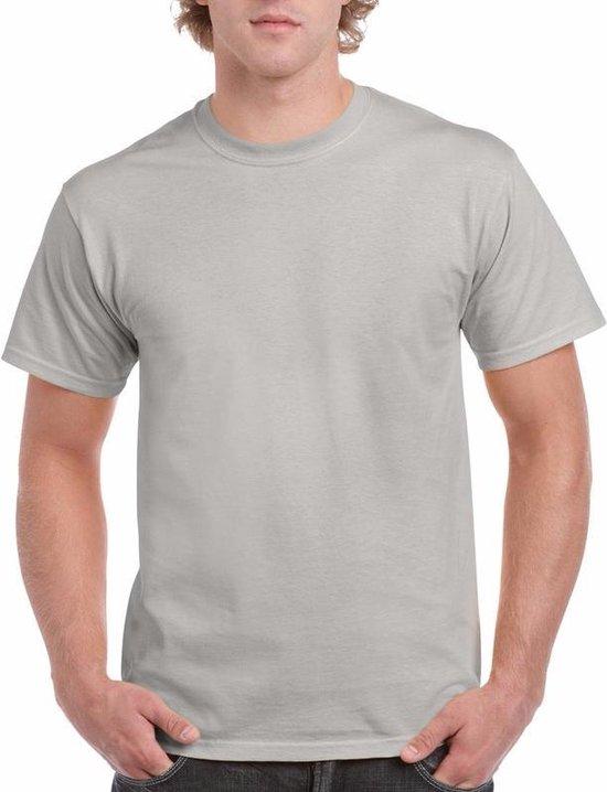 Zinkgrijs katoenen shirt voor volwassenen L (40/52)
