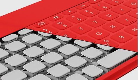 Logitech Keys-To-Go Ultra-Portable Keyboard for iPad - Rood / Azerty