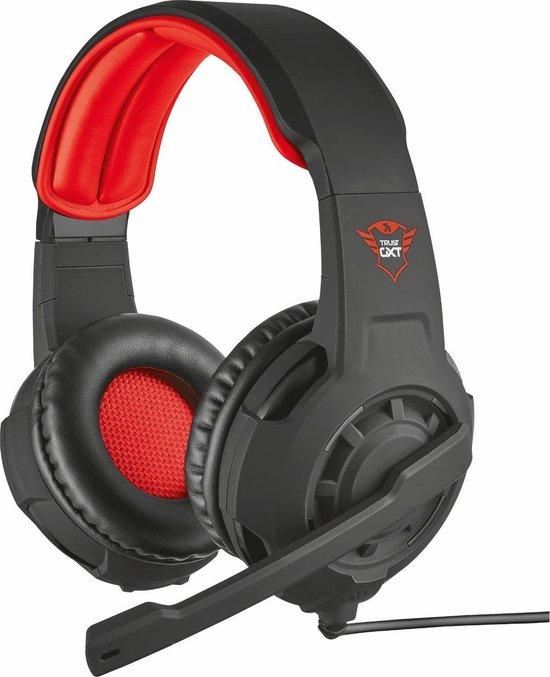 Trust GXT 310 Radius - Gaming Headset voor PS4 en PC - Zwart/Rood
