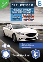Car License B – English CD-Rom Car Exam Training B – 845 practise questions – 13 Theory Exams – Designed for the CBR Theory Exam 2020