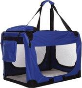 Topmast reisBench nylon Bench - honden Bench M. Blauw 60x42x42cm | stoffen bench | vouwbench | Auto bench - honden 5-10kilo