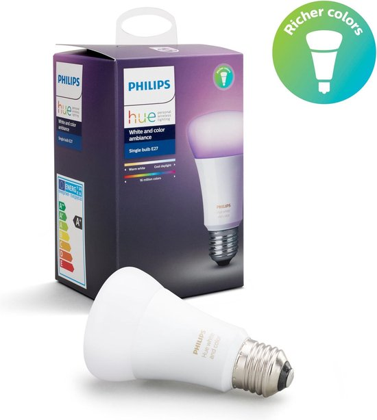 Philips Hue White and Color Ambiance losse lamp - E27 - 1-pack