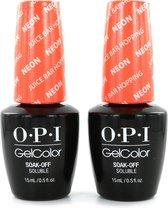 O.P.I GelColor Neon Nagellak - Juice Bar Hopping (2 Stuks)
