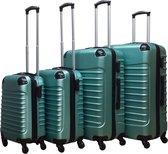Castillo Quadrant 4 delige ABS Kofferset - Lichtgroen
