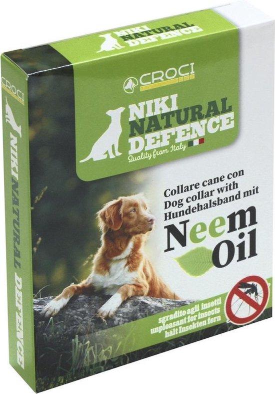 NIki N.D. Vlooienband Hond - Natuurlijk product - Neem Olie - Groen verstelbaar -