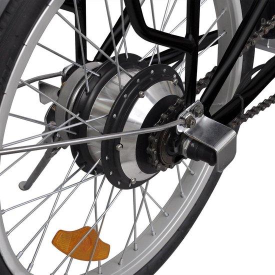 VidaXL - Elektrische fiets - Opvouwbaar - Zwart - 25 km per uur