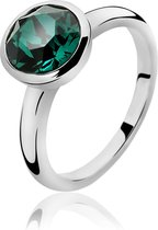 Zinzi - Zilveren Ring - Swarovski Kristal - Groen - Maat 56  ZIR1006G56