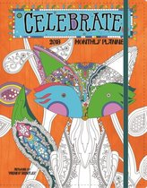 Celebrate 2018 Coloring Monthly Planner