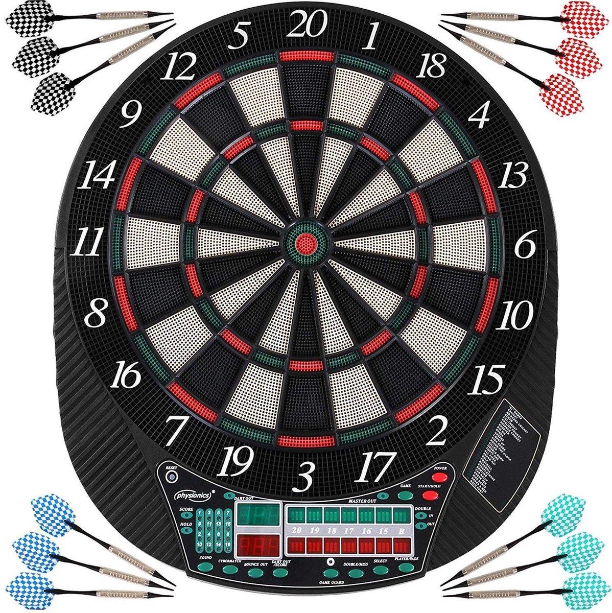 Elektronisch dartbord - LED - voor maximaal 16 spelers