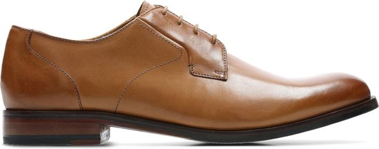 Clarks - Herenschoenen - Edward Plain - G - tan leather - maat 8,5