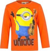 Minion shirt met lange mouw - Unique - oranje - maat 98/104 (4 jaar)