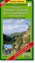 Radwander- und Wanderkarte Naturpark Zittauer Gebirge, Spreequellgebiet und Umgebung 1 : 35 000