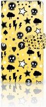 Smartphone Hoesje LG V30 Wallet Book Case Hoesje Punk Yellow