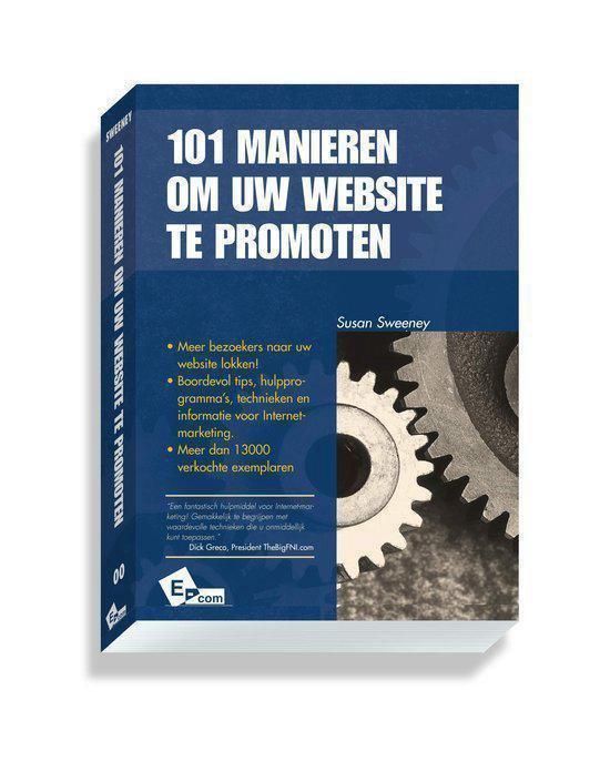 Cover van het boek '101 manieren om uw website te promoten'