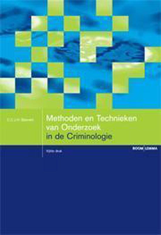 Methoden en technieken van onderzoek in de criminologie - C.C.J.H. Bijleveld | Fthsonline.com