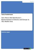 Boek cover New Meets Old: Hawthornes Representation of America and Europe in The Marble Faun van Tonia Fondermann