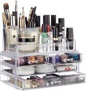 Relaxdays Make-up Organizer - Tweedelig - Cosmetic