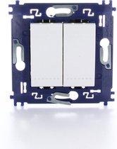 BTICINO Living Light - inbouw wisselschakelaar - dubbel - schroefbevestiging