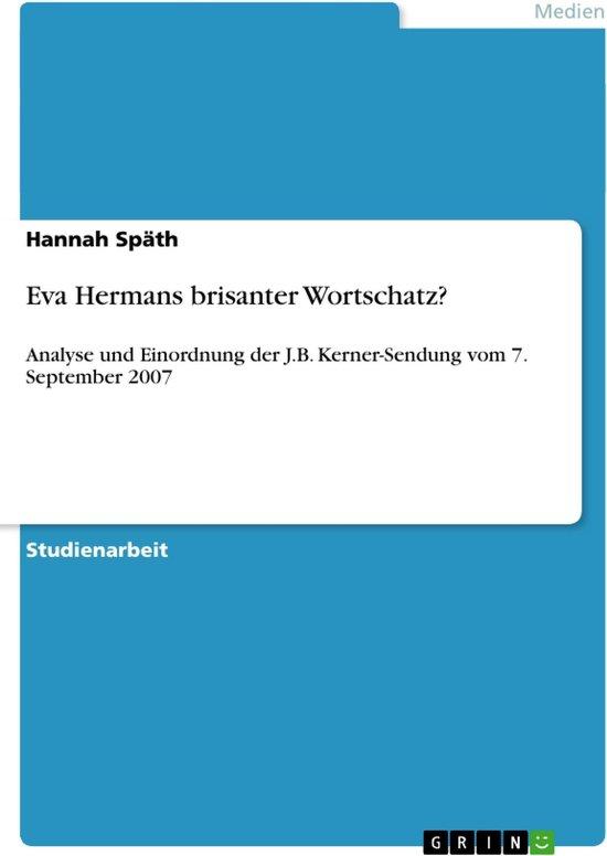 Eva Hermans brisanter Wortschatz?