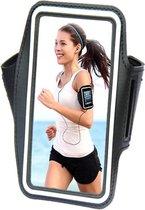 Comfortabele Smartphone Sport Armband voor uw Asus Zenfone Selfie, zwart , merk i12Cover