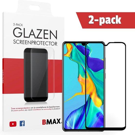 2-pack BMAX Huawei P30 Screenprotector Full Cover Glas | Dekt het volledige scherm! | Beschermglas | Tempered Glass