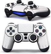 PS4 dualshock Controller PlayStation sticker skin | Wit karbon