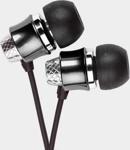 Krüger & Matz KMM01BK - Metalen in-ear ooroordopjes - zwart