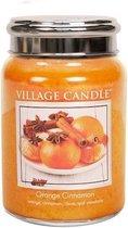 Village Candle Large Jar Geurkaars - Orange Cinnamon