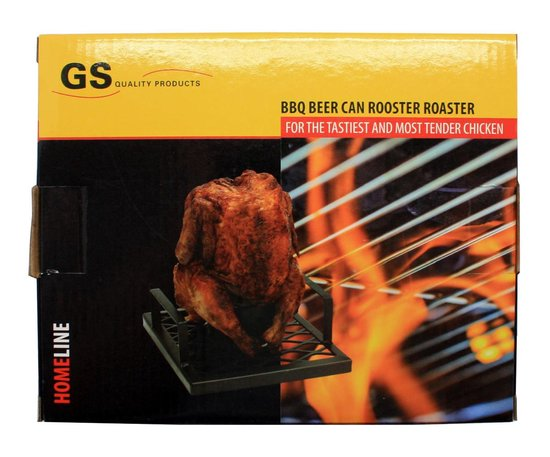 Barbecue bierblik kiphouder / BBQ / kiprooster / grill - GS Quality Products