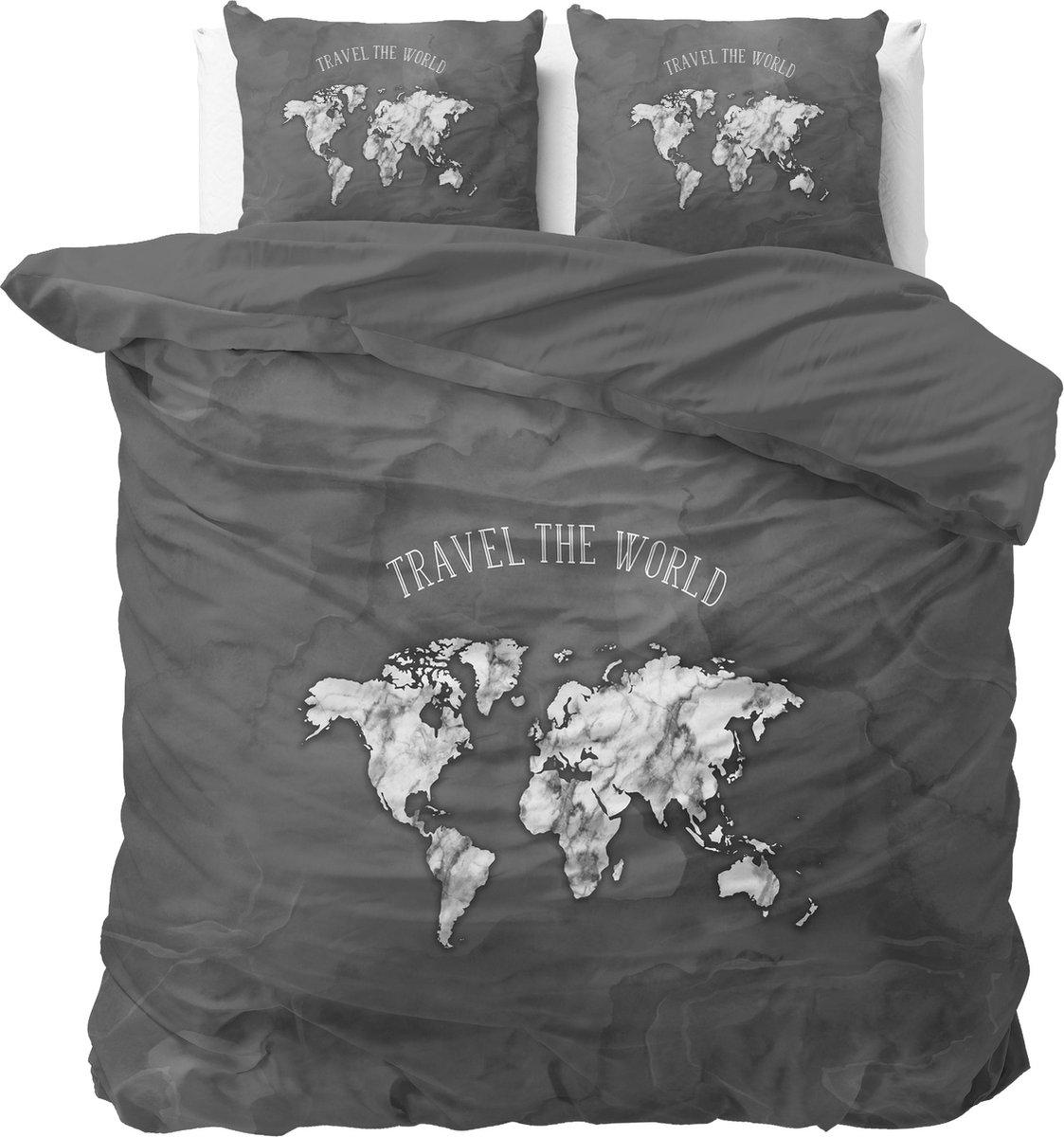 Sleeptime Marble World Dekbedovertrekset - Tweepersoons - 200x200/220 + 2 kussenslopen 60x70 - Antra