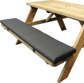 1 Picknicktafel zitkussen 180 cm x 30 cm