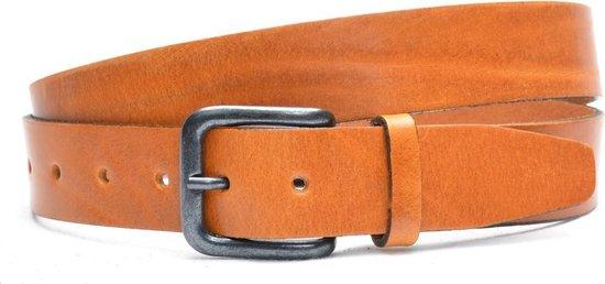 Timbelt 3,5cm cognac riem – nerfleder – jeans riem – pantalon riem – Maat 95 cm