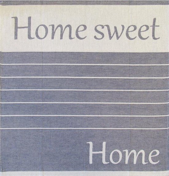 Jorzolino Home Sweet Home Theedoek (6 Stuks) - 65x65 cm - Blauw