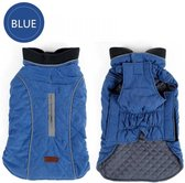 Gewatteerde Hondenjas Retro Style Blue mt XXXL
