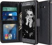 Samsung Galaxy A3 2017 - Book PU lederen Portemonnee hoesje Book case zwart