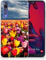 Huawei P20 Pro Uniek TPU Hoesje Tulpen
