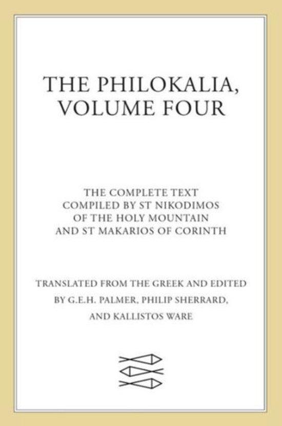 Afbeelding van The Philokalia Vol 4