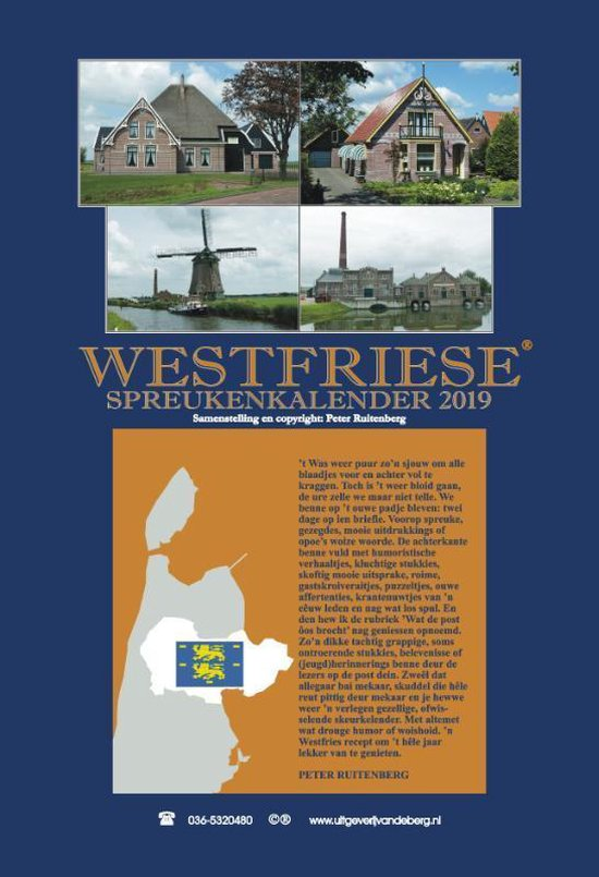 Westfriese spreukenkalender 2019 - Peter Ruitenberg |