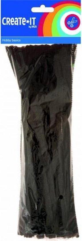 Chenilledraad/ pijpenragers zwart 30 cm 50 st