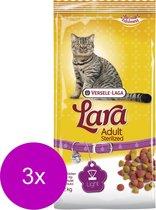 Lara Adult Sterilized Kip&Eend - Kattenvoer - 3 x 2 kg