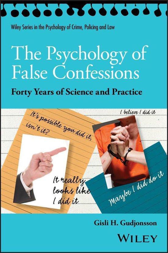 Boek cover The Psychology of False Confessions van Gisli H. Gudjonsson (Onbekend)