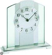 AMS tafel 1120 - Klok - Metaal/Glas - 20x20 cm - Transparant