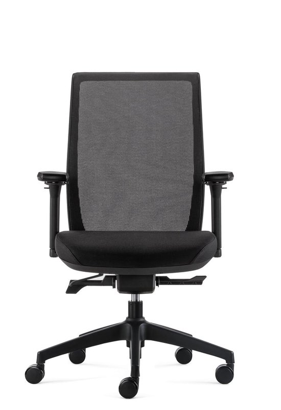 BenS 837-Synchro-4 Zwart Ergonomische Bureaustoel met alle instel opties - Voldoet aan EN1335 & ARBO normen  Zwart