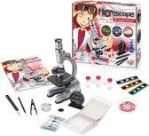 BUKI microscoop voor kinderen van metaal met 30 experimenten.