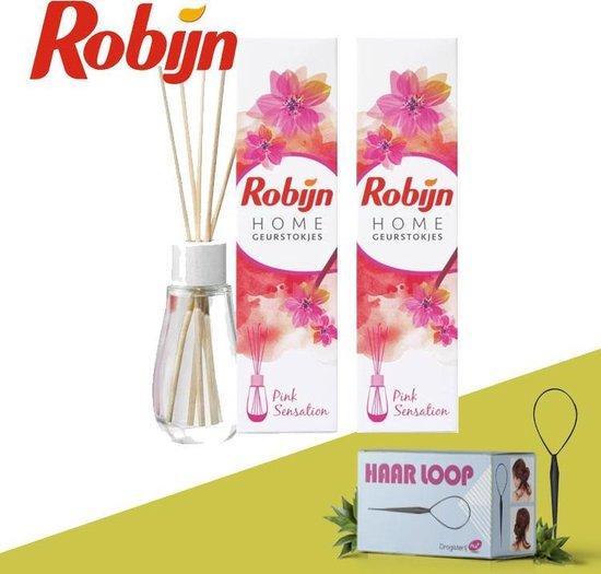 Robijn Home Geurstokjes Pink Sensation - 2 Pack Inclusief Haarloop