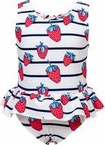 Snapper Rock UV werend Badpak Rokje Baby Strawberry - Blauw - Maat 86-92