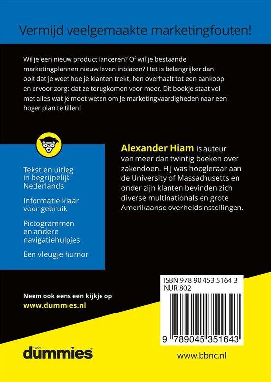 Voor Dummies  -   De kleine marketing voor Dummies - Alexander Hiam