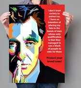 Poster Pop Art The Godfather - Al Pacino - 50x70cm